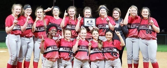 Lady Falcons--2019 Region 1 All A Softball Champions