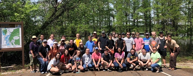 Students enjoy the outdoors at Reelfoot Lake.